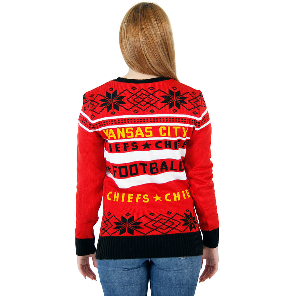 huge discount e50ec 0a358 Women's Kansas City Chiefs Ugly Red Sweater 4 - Ugly ...