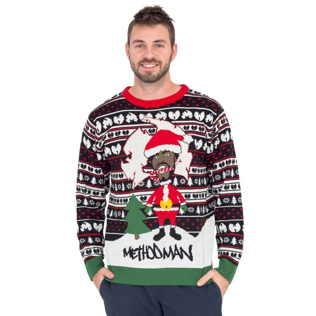 e674ed8df44 Method Man as Santa with Candy Cane Ugly Christmas Sweater