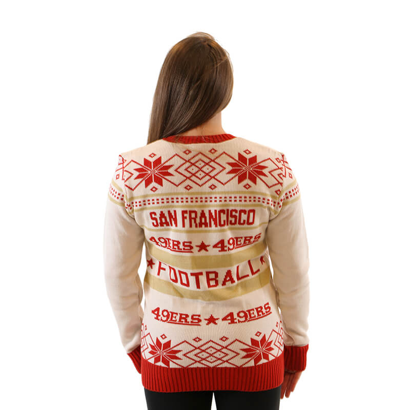7792a0fba9d Women s San Francisco 49ers Ugly Christmas Sweater 2 - Ugly ...