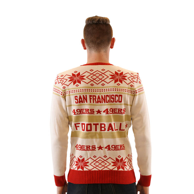 a2b689eec42 Women s San Francisco 49ers Ugly Christmas Sweater 4 - Ugly ...