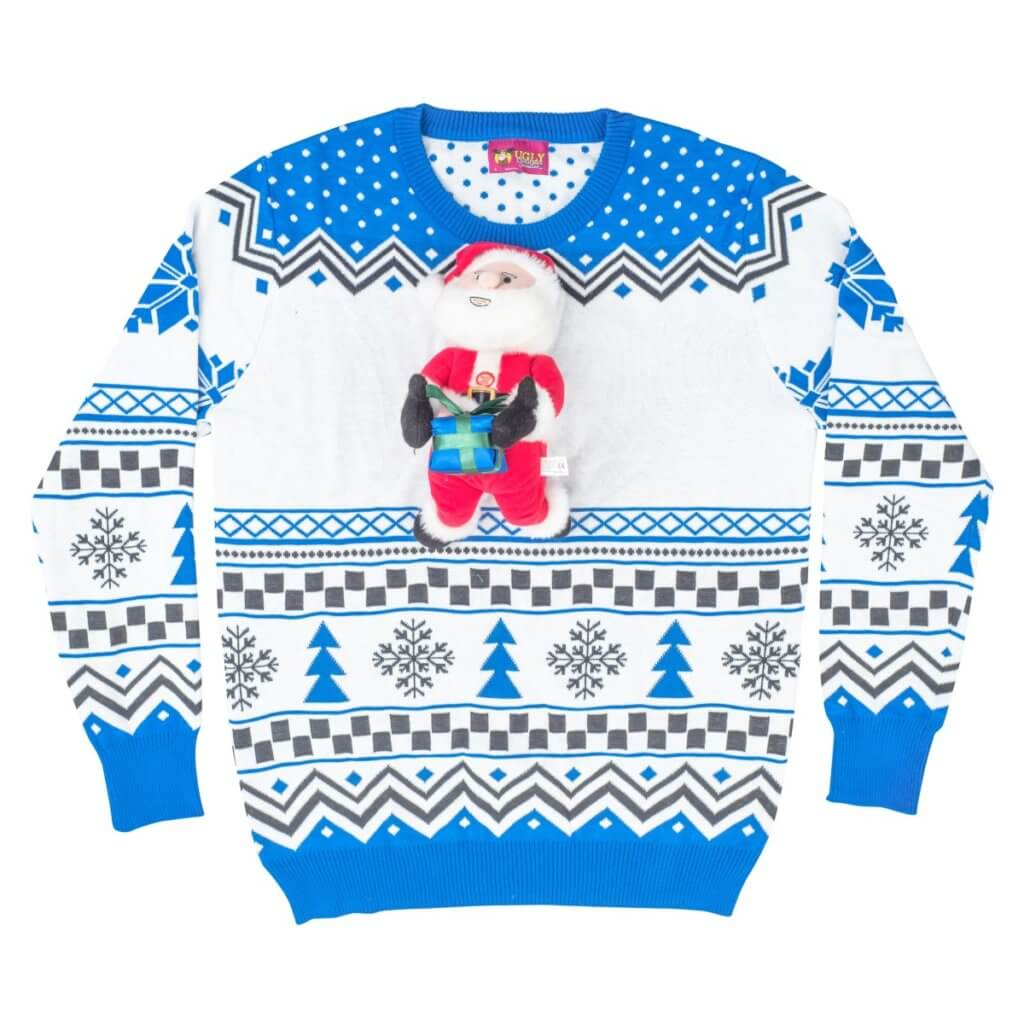 Santa Claus 3D Animated Ugly Christmas Sweater
