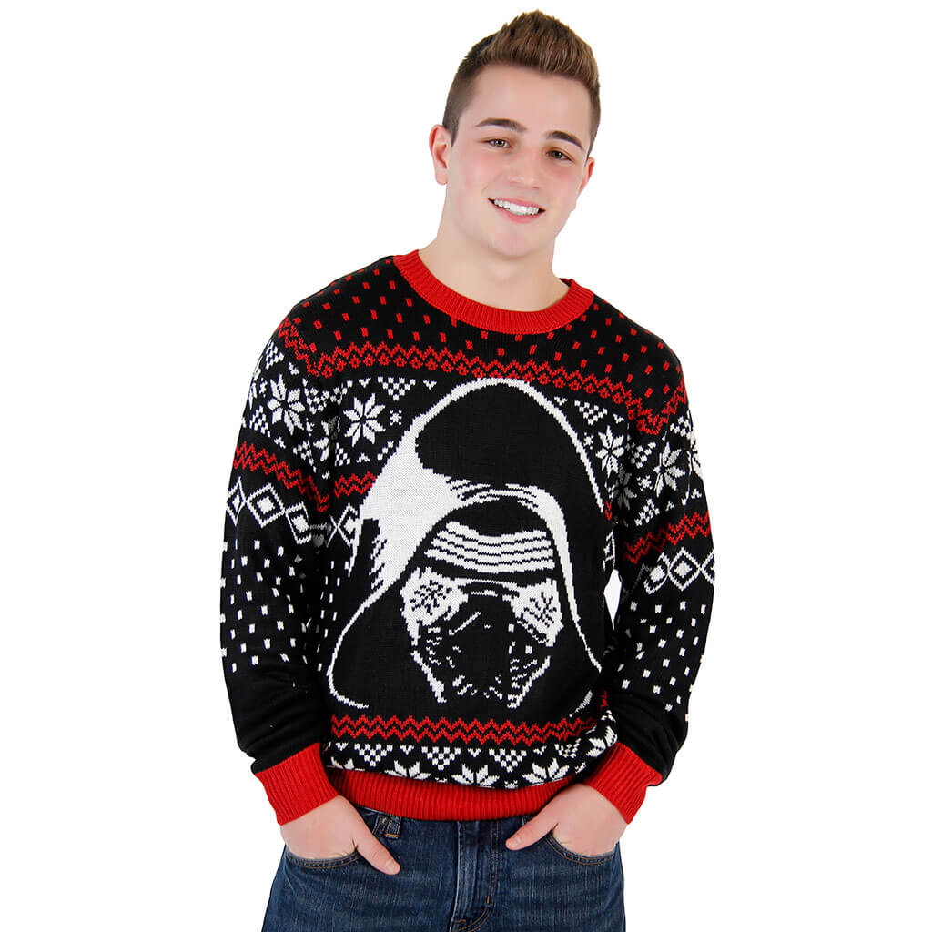 Wars The Force Awakens Kylo Ren Ugly Christmas Sweater