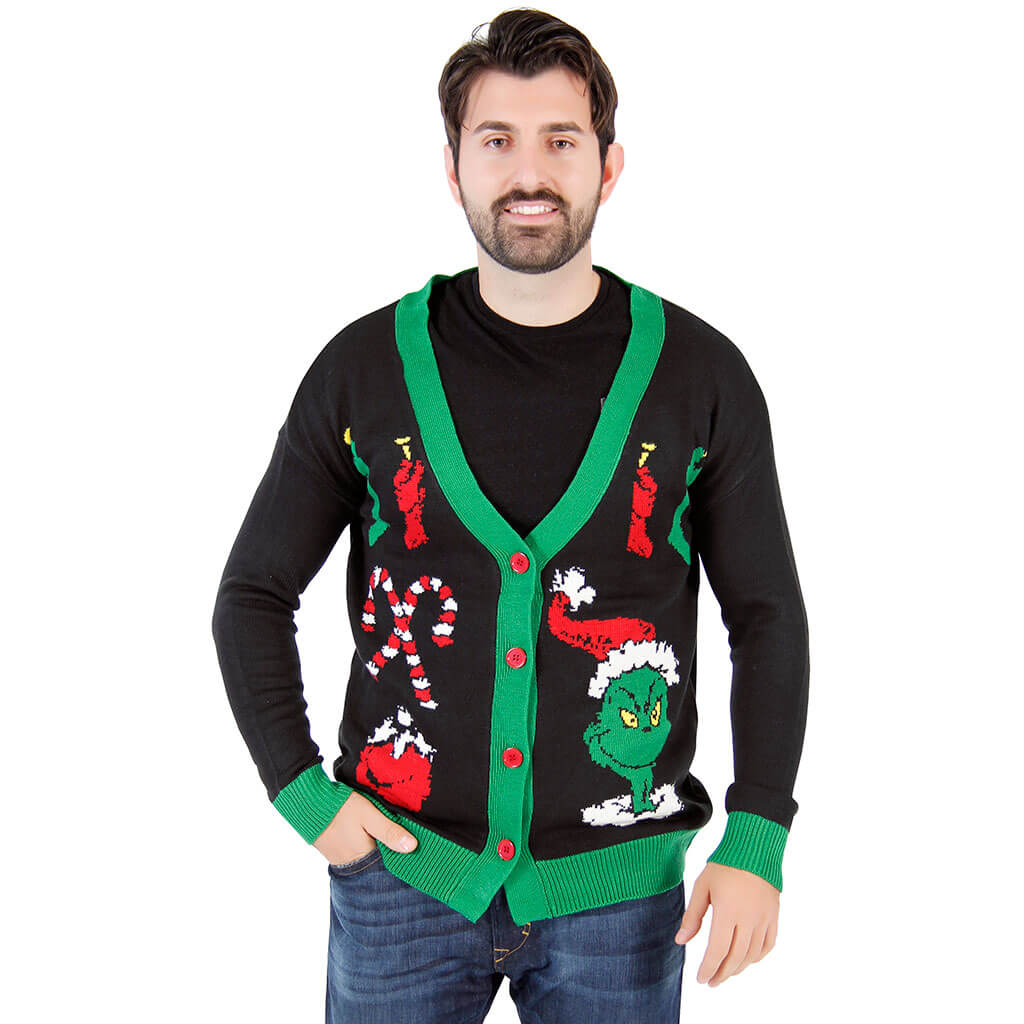 The Grinch Ugly Christmas Cardigan Sweater