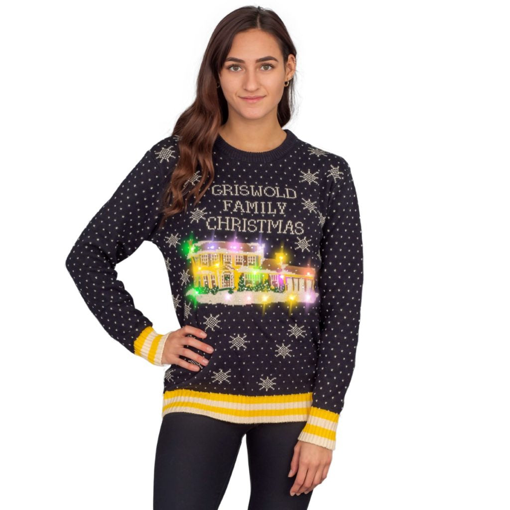 Ripple Junction National Lampoons Christmas Griswold Womens Faux Knit Sweater