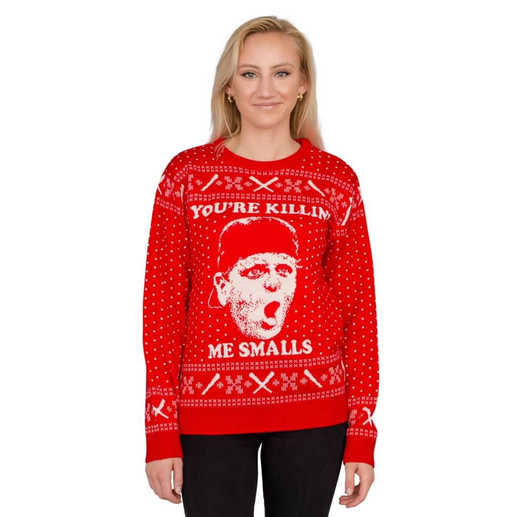 Womens The Sandlot Youre Killing Me Smalls Red Ugly Christmas Sweater