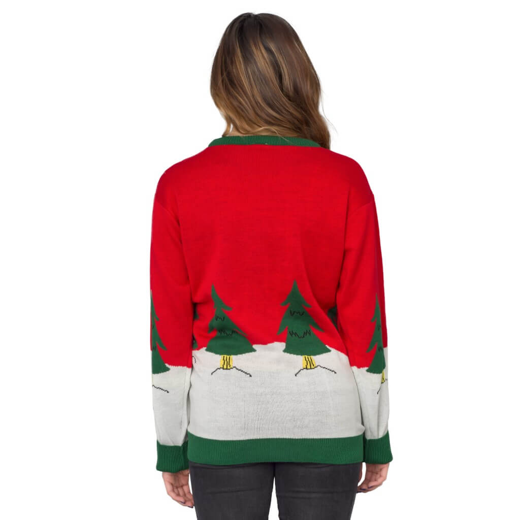 Women\'s Tree Rex Light Up T-Rex Ugly Christmas Sweater 1 - Ugly ...