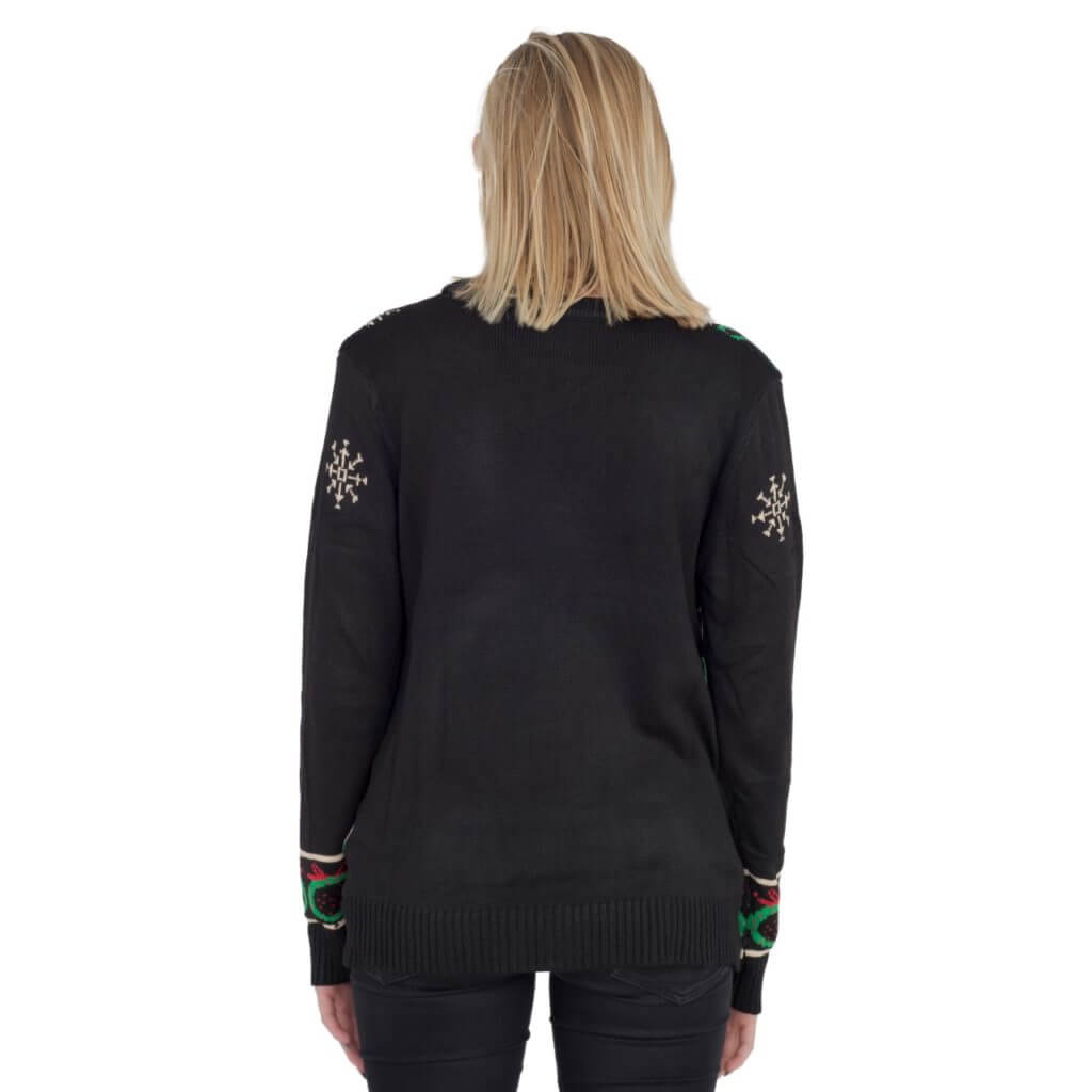 Women's Black Cardigan with Lights