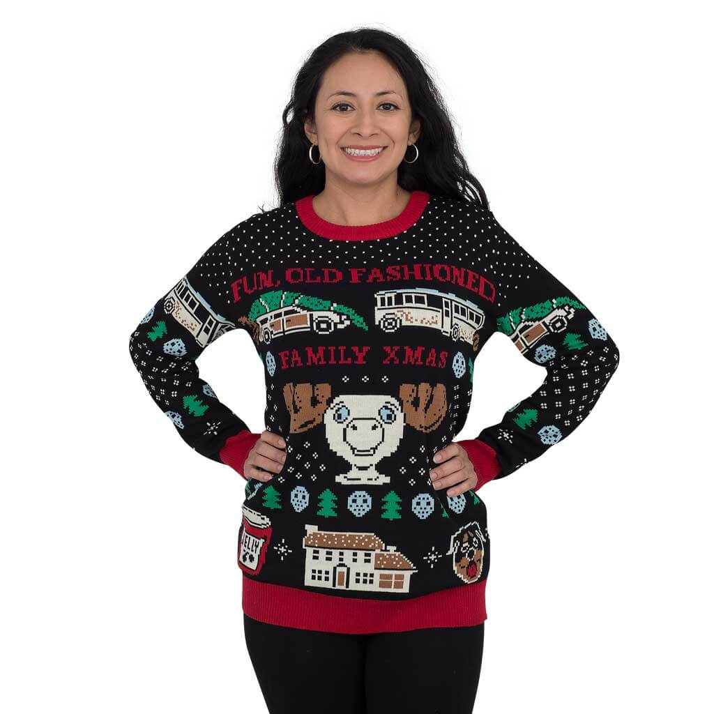 Women's Christmas Vacation Fun Old-Fashioned Family Sweater