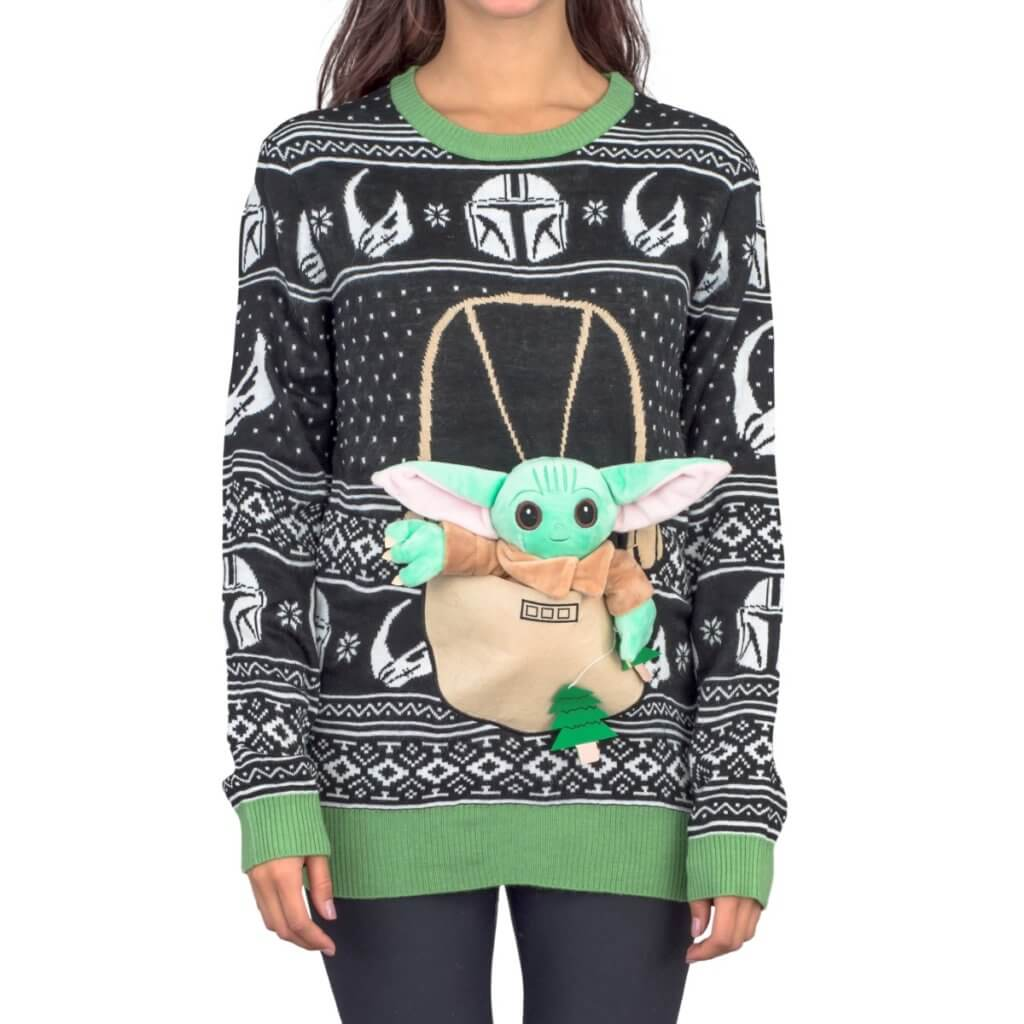 Women's Star Wars Baby Yoda The Child Forces Trees Ugly Christmas Sweater