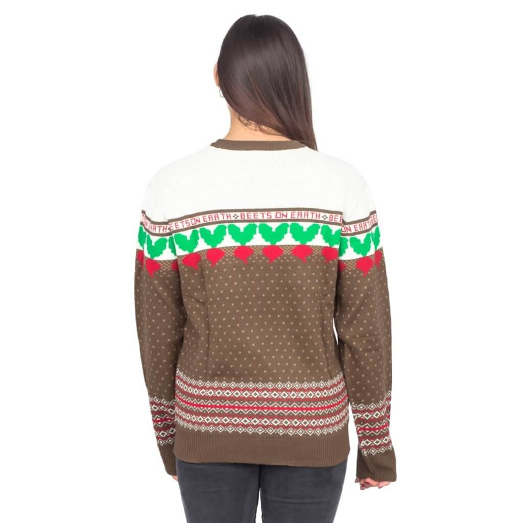 The Office Dwight Schrute Farms Beets Ugly Christmas Sweater