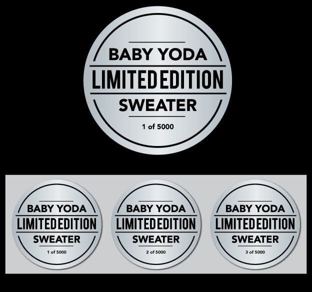 limited edition baby yoda ugly christmas sweater badge