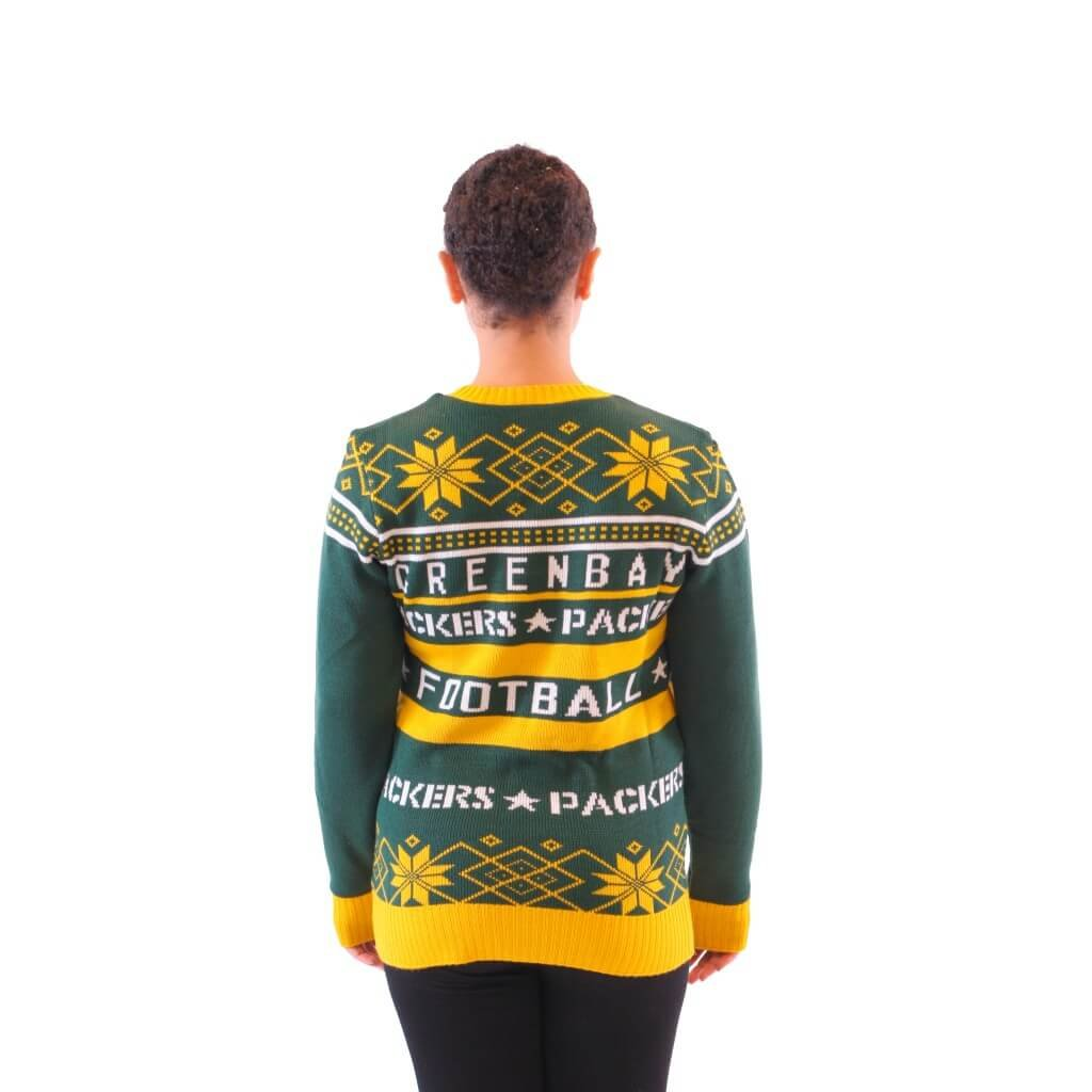 Womens Green Bay Packers Ugly Christmas Sweater 4 Ugly Christmas