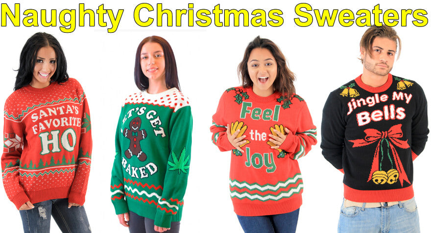 10 naughty christmas sweaters for 2017 - Dirty Christmas Sweaters