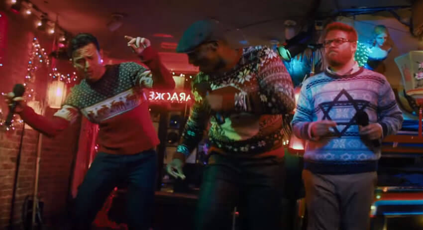 The Night Before Expands The Definition Of Ugly Christmas Sweaters