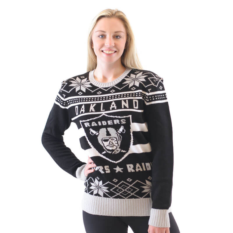 dd82d747c4e Oakland Raiders NFL Sweater - Ugly Christmas Sweaters