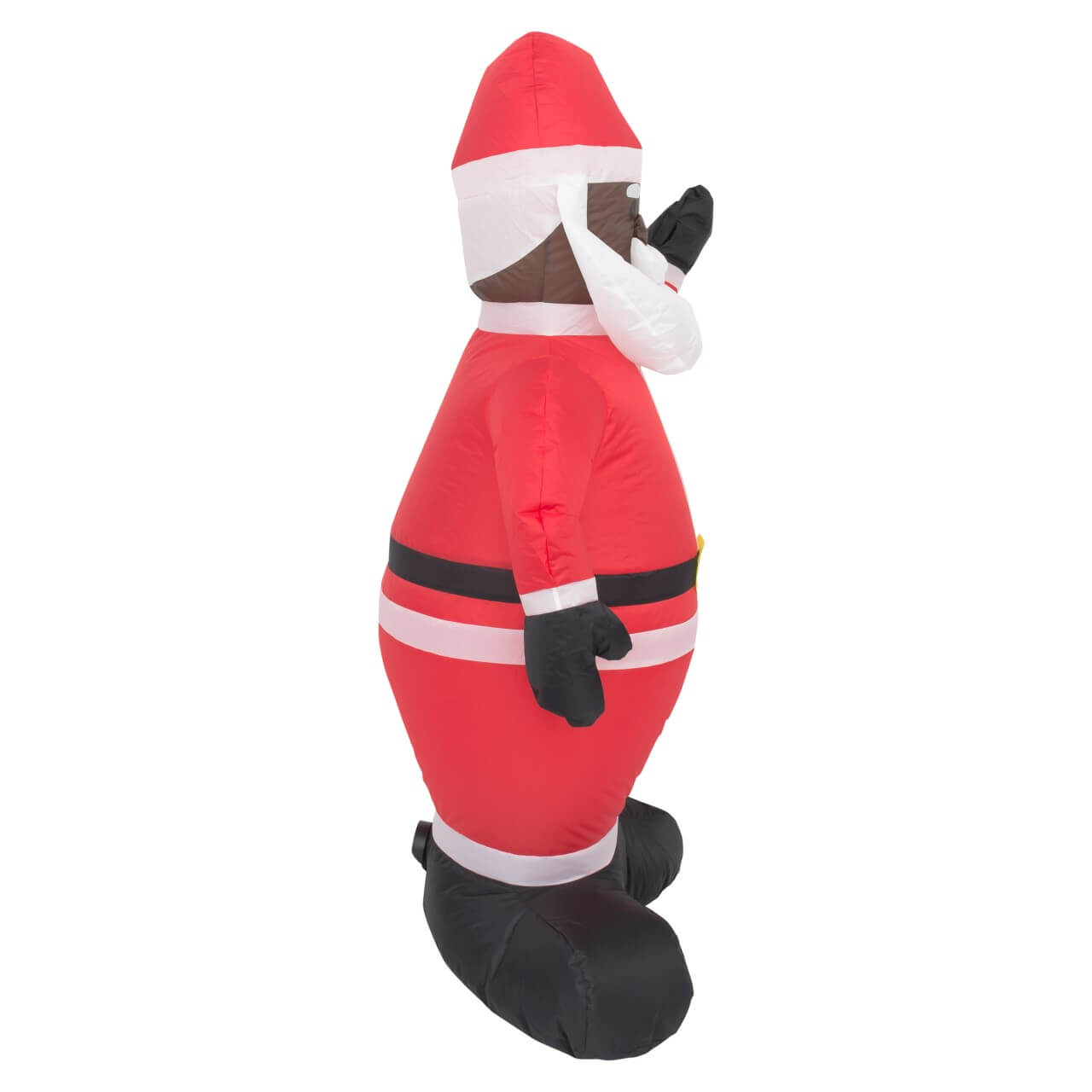 Black Santa Lawn Inflatable Decoration - Ugly Christmas Sweaters