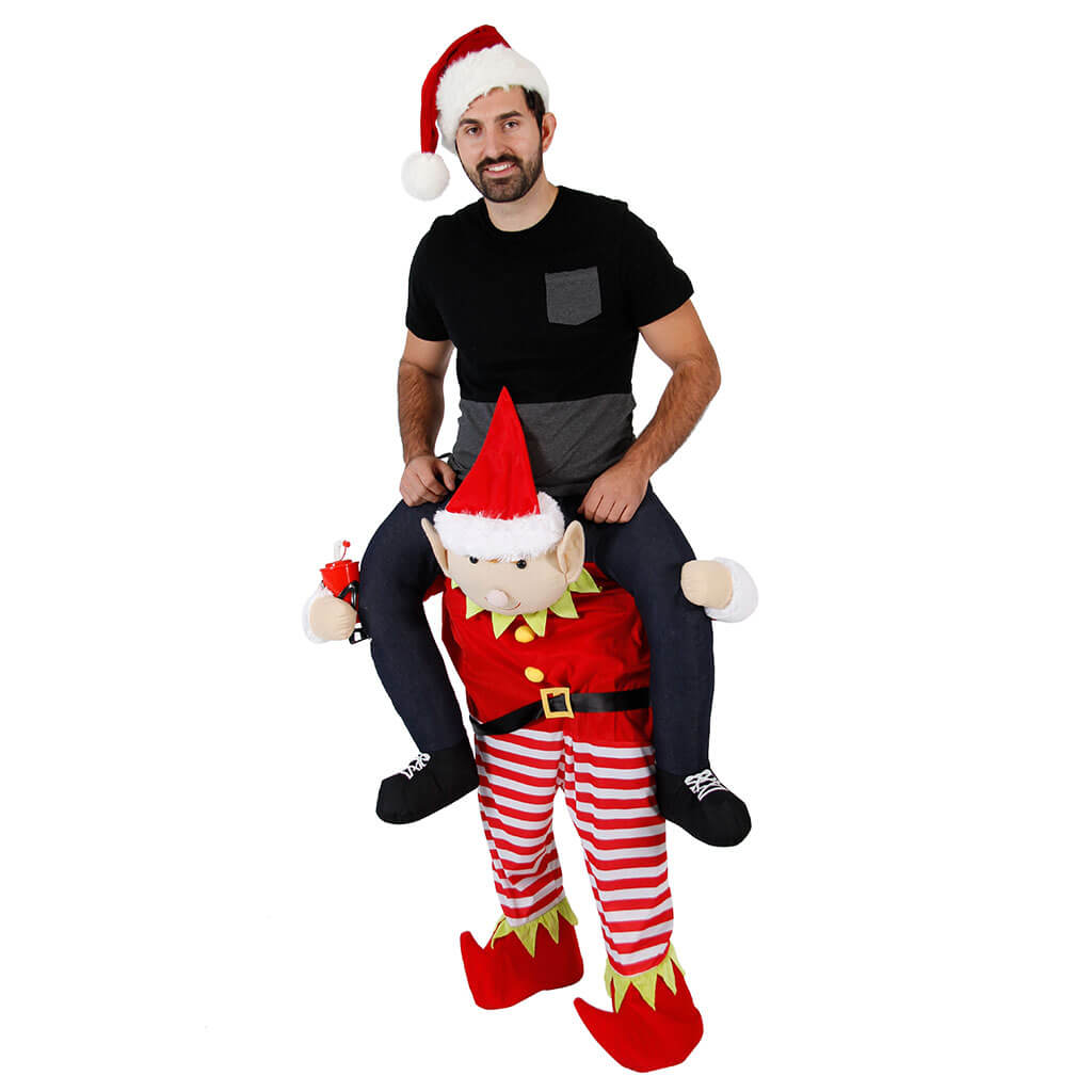 Christmas Piggyback Ride On Elf Costume  Ugly Christmas - Costume