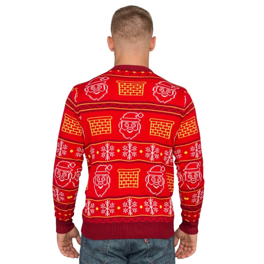 Jack in the Box Santa Claus 3D Ugly Christmas Sweater