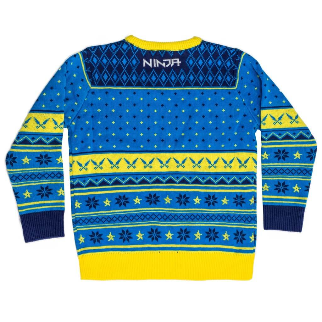 fd8f9e1963d0 Ninja Logo Ugly Christmas Sweater Shurikens Pattern