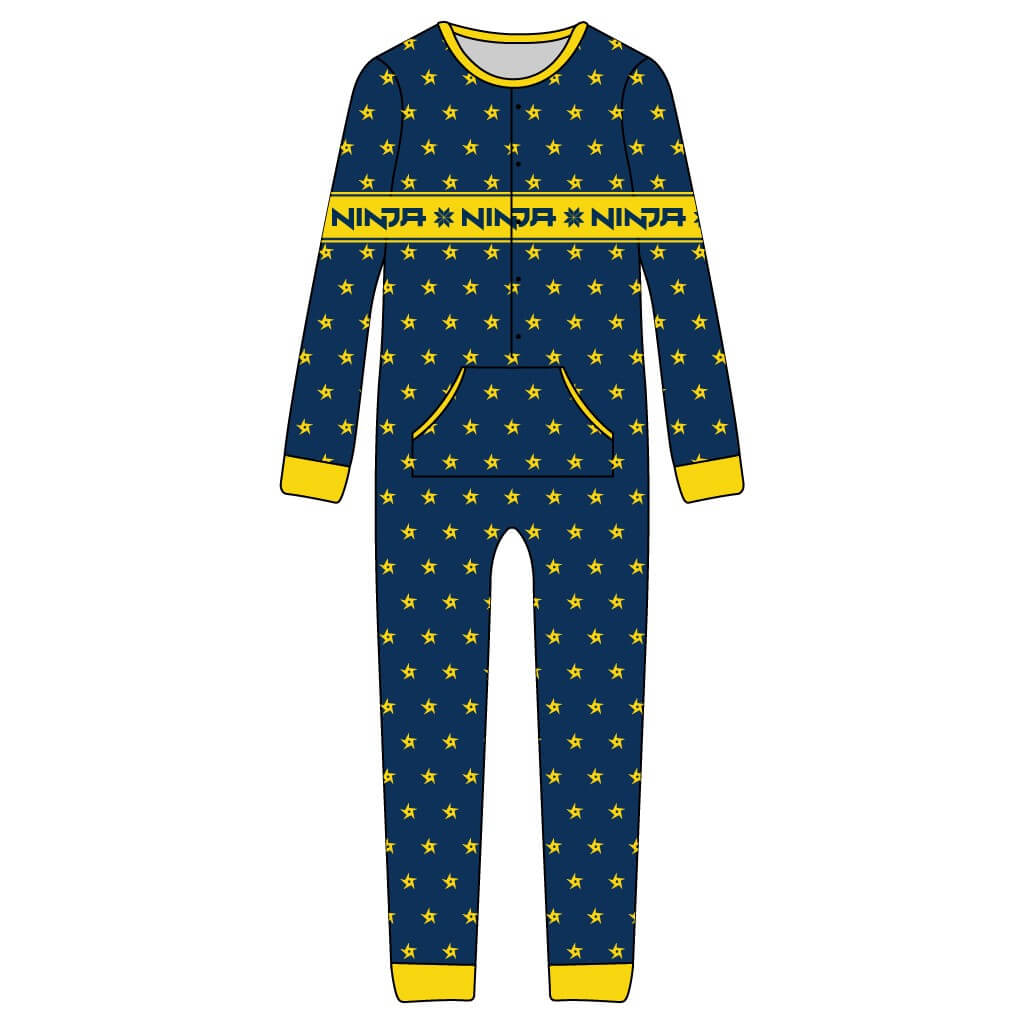 f358943015d0 Youth Ninja Shurikens Christmas Pattern Jumpsuit