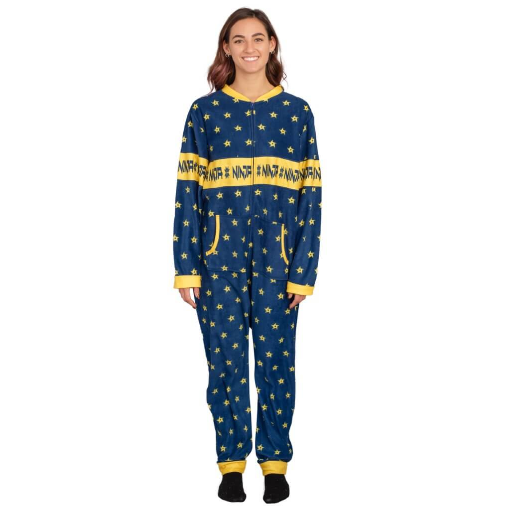 e86dc9efb2e7 Women s Ninja Shurikens Christmas Pattern Jumpsuit