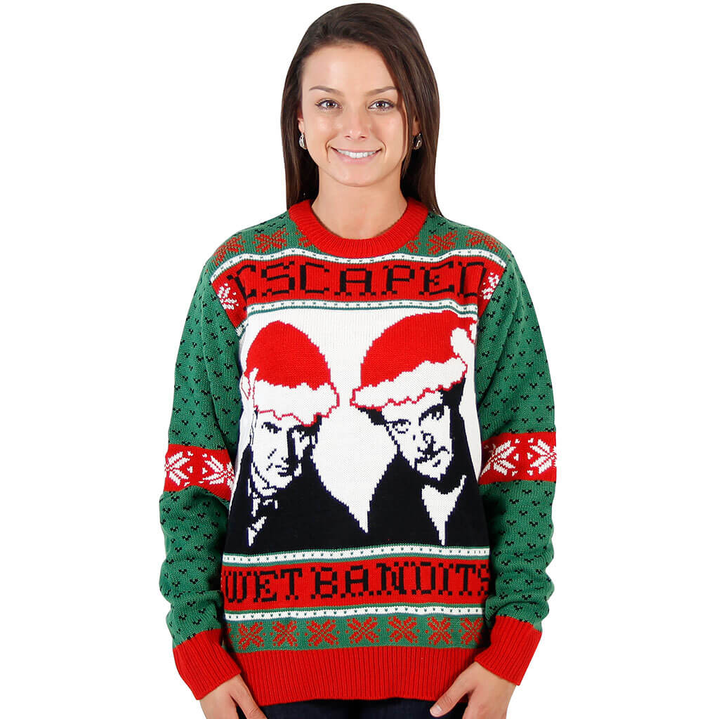 Women S Home Alone Wet Bandits Ugly Christmas Sweater