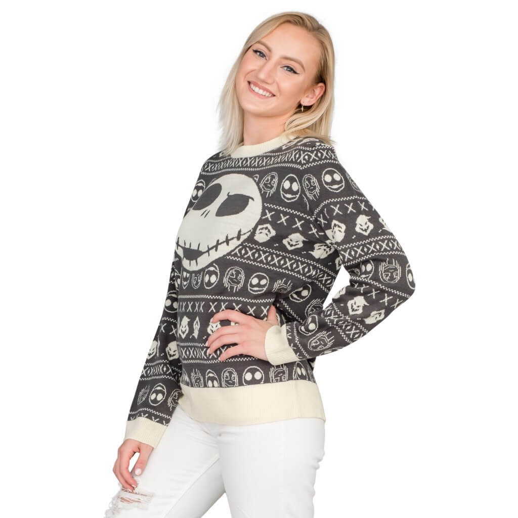 Womens Jack Sally The Nightmare Before Christmas Ugly Sweater