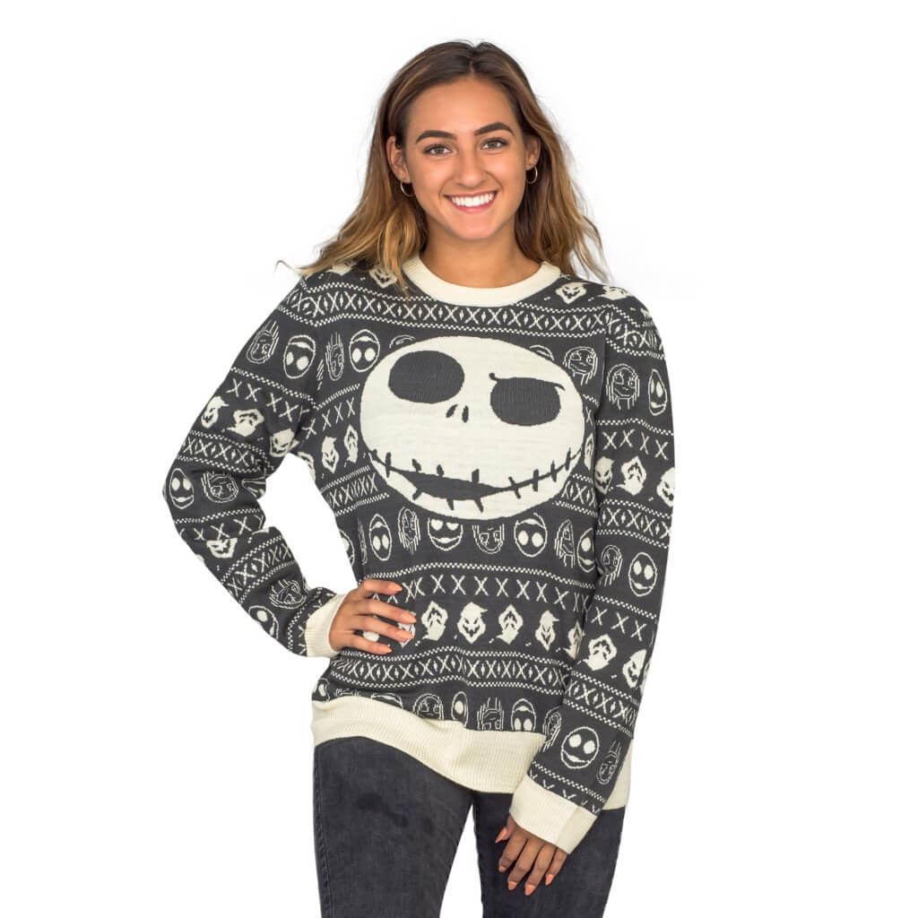 Women\'s Jack Sally The Nightmare Before Christmas Ugly Sweater