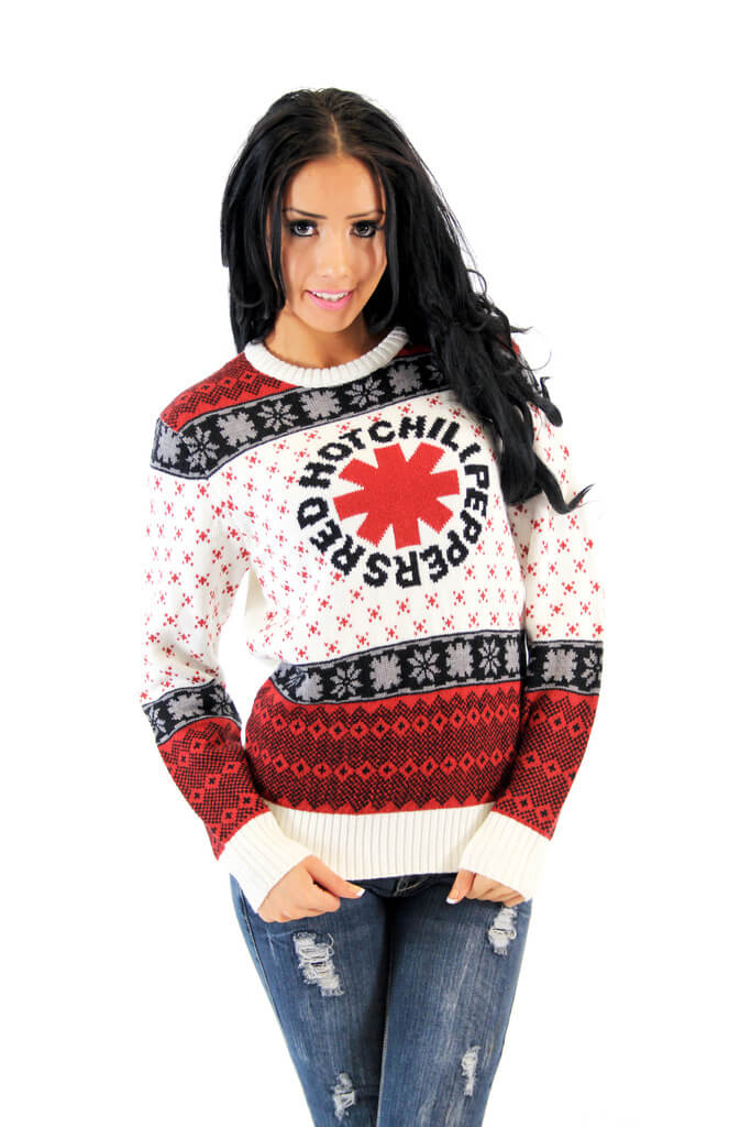 Red Hot Chili Peppers Ugly Christmas Sweater