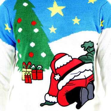 Santa Butt Crack Christmas Sweater