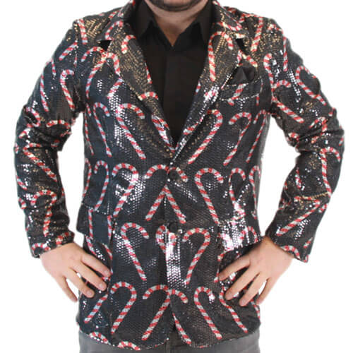 Sequin Candy Cane Blazer Jacket