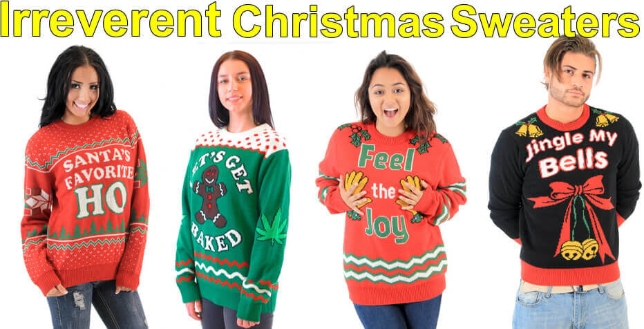 irreverent christmas sweaters