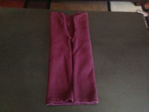 5. Repeat this on the other side as well, so that sleeve edges meet at the center