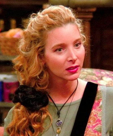 Pheobe rocking this gorgeous side style finished with a scrunchie.