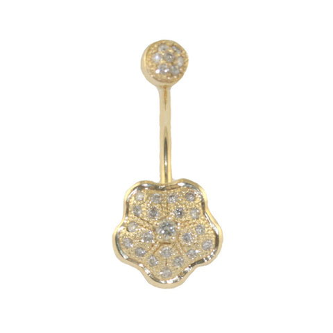 diamond-encrusted-flower-navel-bar