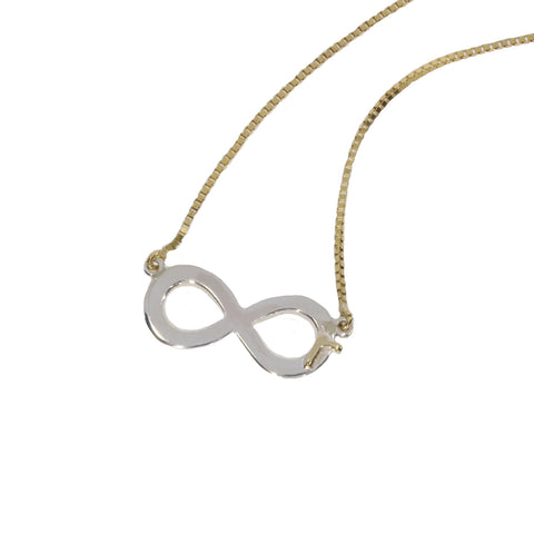 white-yellow-gold-infinity-necklace