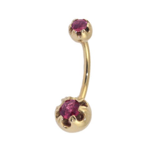 rose-style-navel-stud