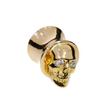 custom-made-skull-ear-flare-gold