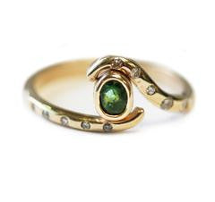 green-stone-twisted-ring