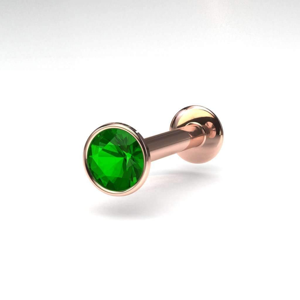 Tsavorite Internally Threaded Pin - BMG Body Jewellery