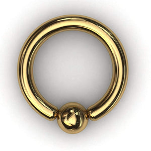 PA Ring or ball closure ring (BCR) 4mm or 6 gauge - Price on application - BMG Body Jewellery