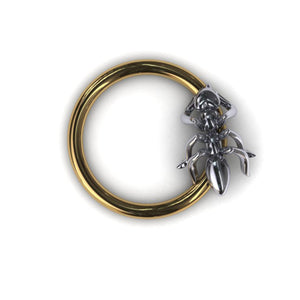 Ant body piercing ring