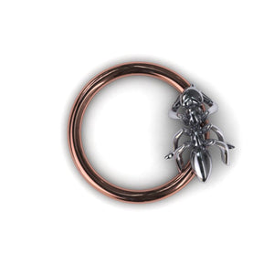 Ant body piercing ring - BMG Body Jewellery