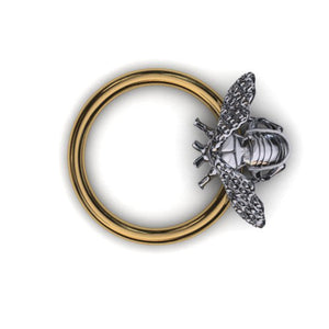 Bee body piercing ring - BMG Body Jewellery