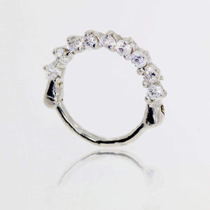 Clicker Diamond Daith Ring - BMG Body Jewellery
