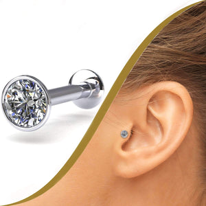 Diamond Ear Labret with 15pt Diamond - BMG Body Jewellery