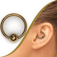 Gold Ball Closure Ring - BMG Body Jewellery