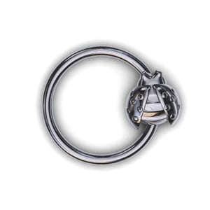 Ladybird body piercing ring - BMG Body Jewellery