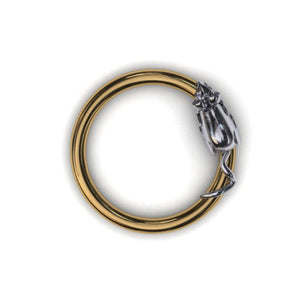Mouse body piercing ring - BMG Body Jewellery