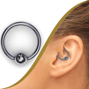 Platinum Piercing Ring - BMG Body Jewellery